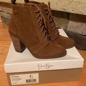 NEW Jessica Simpson Channie lace up heeled bootie